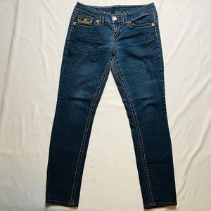 Seven 7 Mid Ride Medium Wash Skinny Jeans Size 8